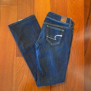 American Eagle Slim Boot Jeans Dark Wash Size 4